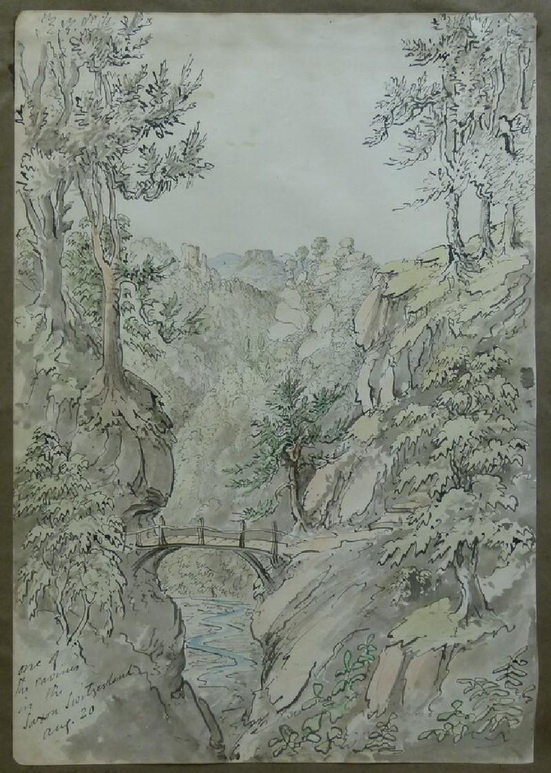 Saxon Switzerland Landscape with Ravine and Bridge (WA2004.111.79)