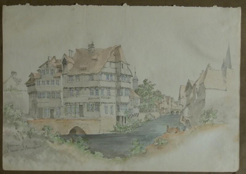 Specimen of the Old Houses in Brunswick (Braunschweig) (WA2004.111.8)
