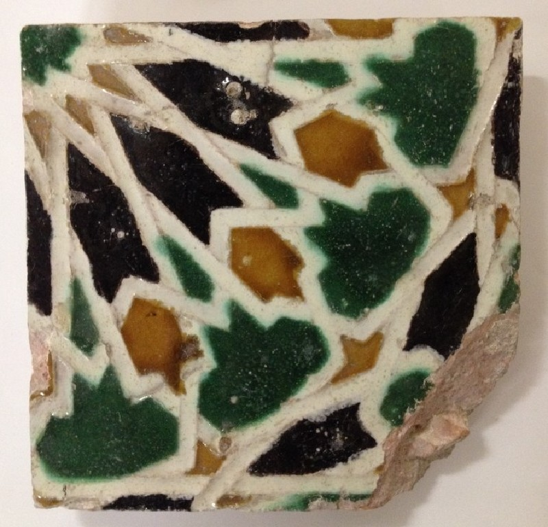 Tile with geometric decoration (WA2012.1.523, record shot)