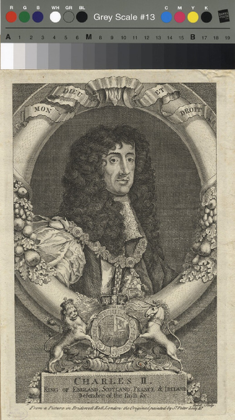 Portrait of Charles II (WAHP11786, record shot)