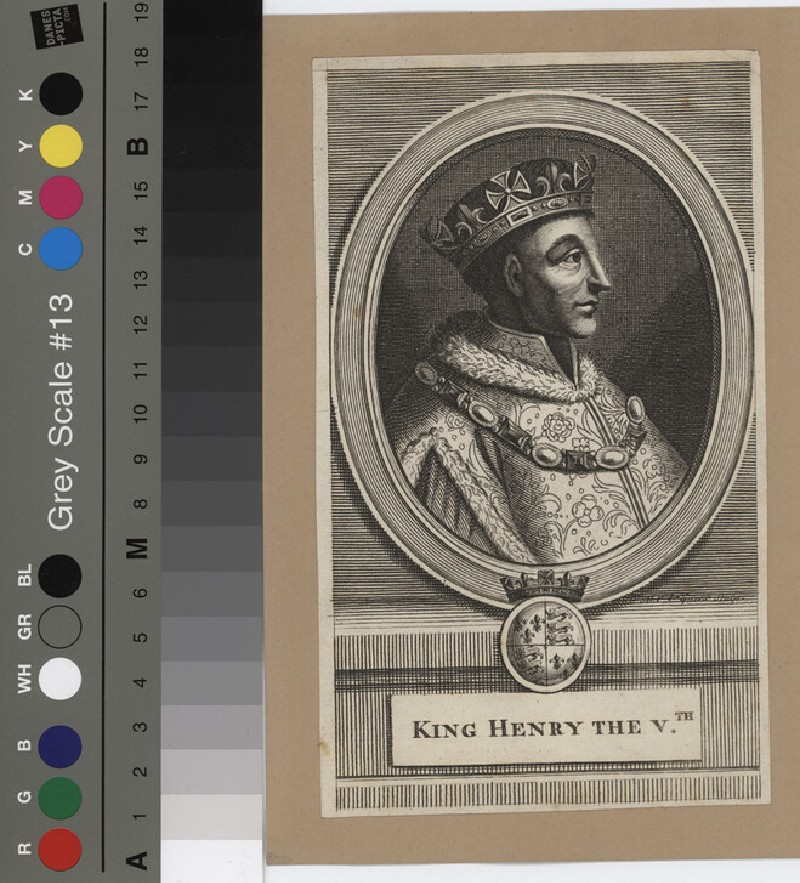 Portrait of Henry V (WAHP12132, record shot)